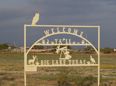 Big Lake Texas - Welcome Sign - photo